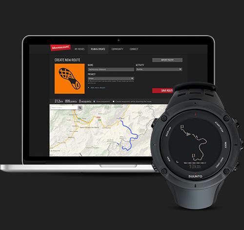 Suunto Movescount.com - Planificar rutas