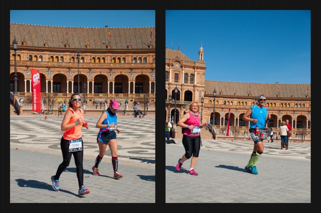 """Chris y Mercedes, """"disfrutonas"""" del maratón"""