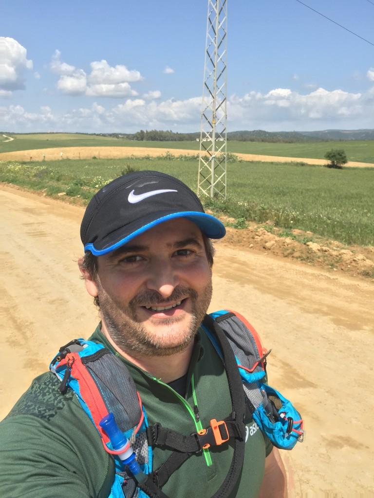 Camino de  tierra hacia Guillena