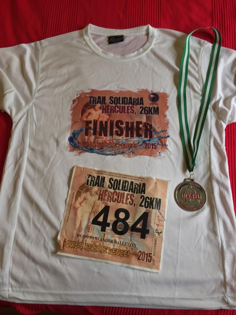III Trail Hércules - Camiseta y medalla Finisher