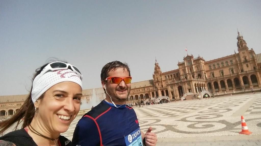 Paso por la Pza. de España (36km)