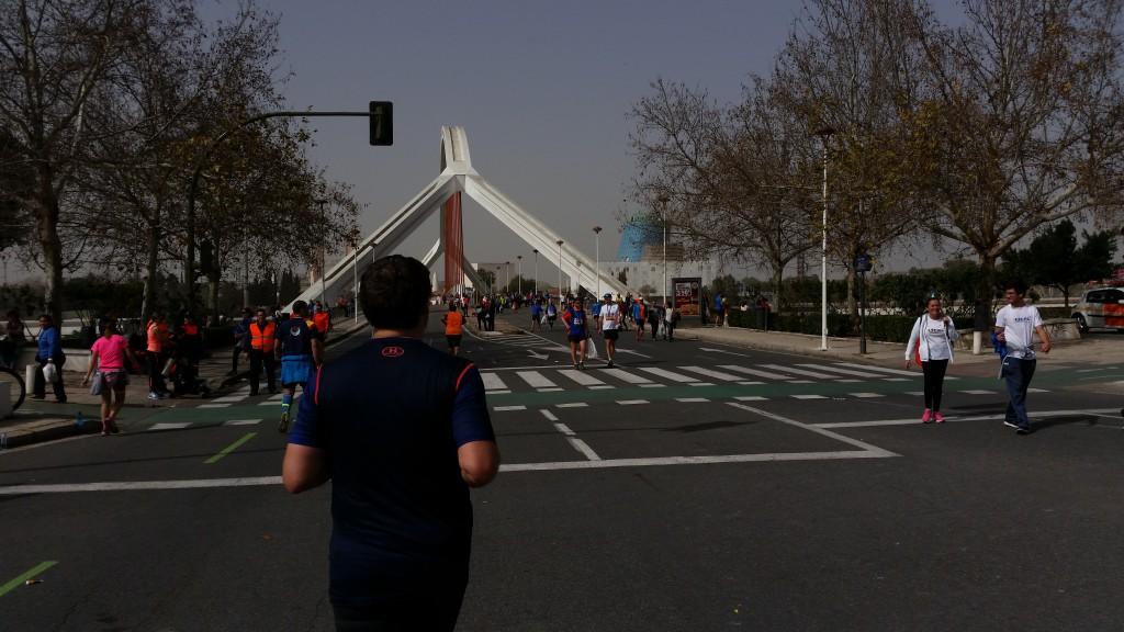 Llegando al Puente de la Barqueta