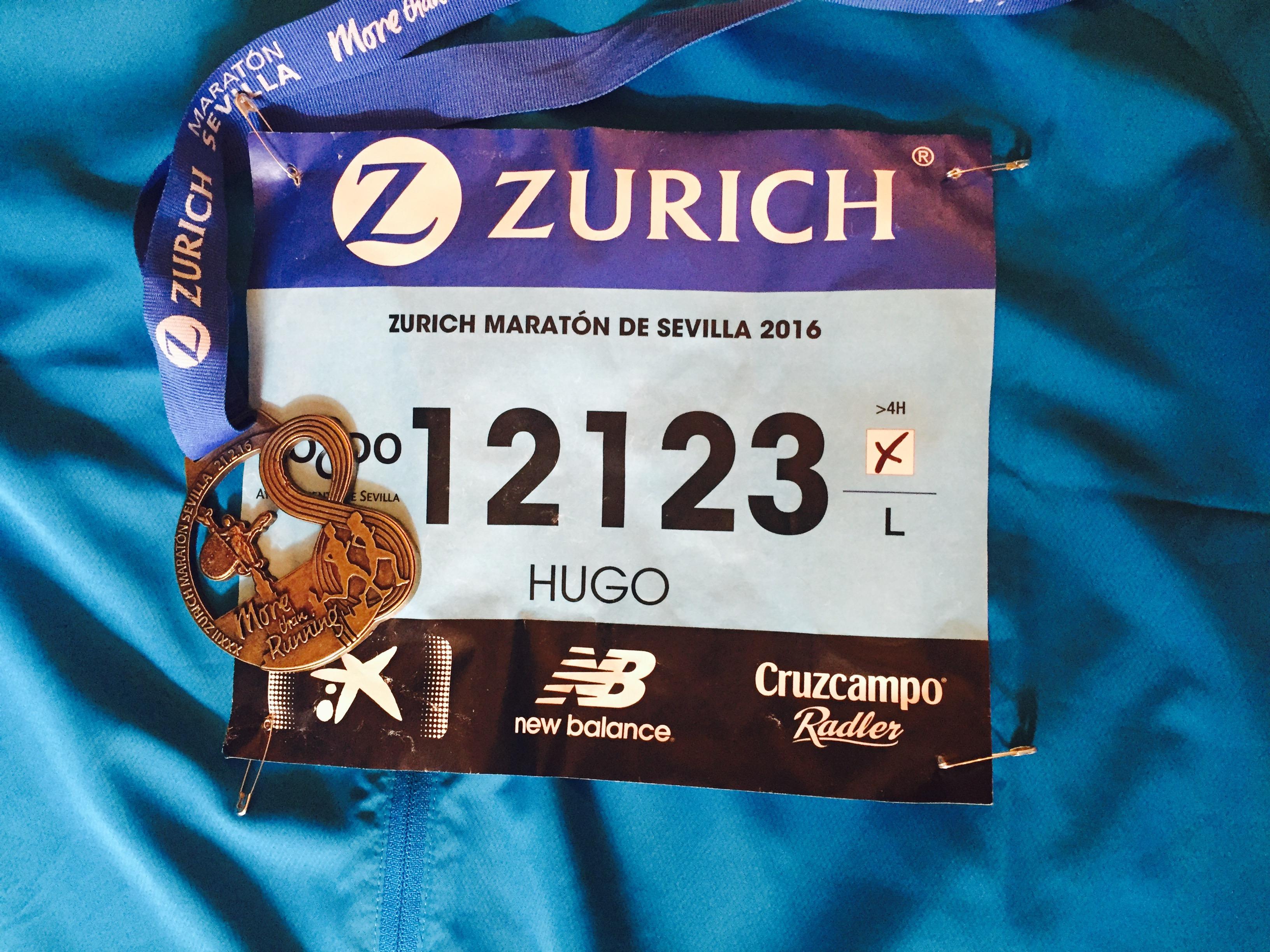 Medalla de mi primer maratón