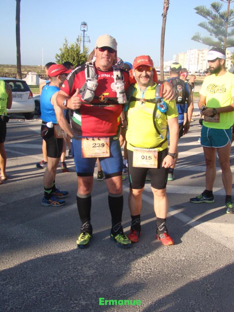 Con Salva, antes de empezar la carrera (Foto: ErManue)