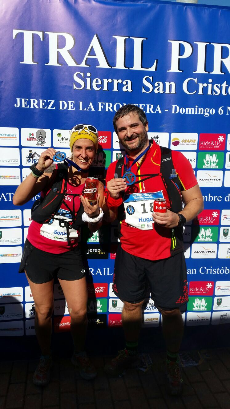 Con nuestra medalla de Finisher