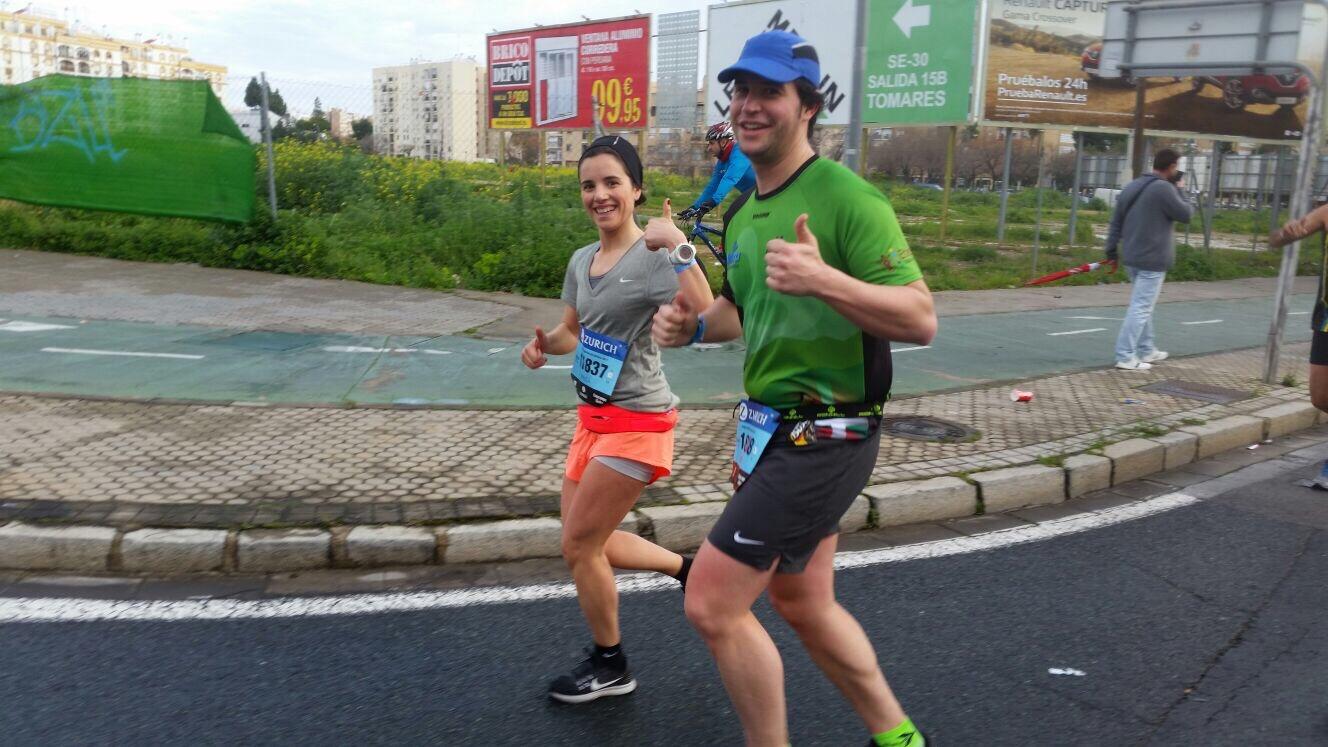 Asier y Paula, compañeros durante varios kms